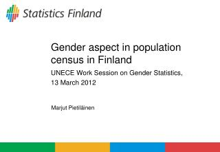 Gender aspect in population census in Finland