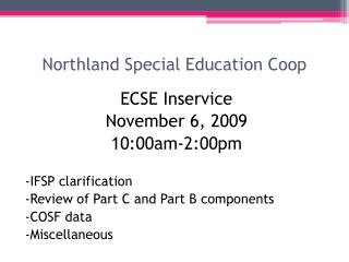 Northland Special Education Coop