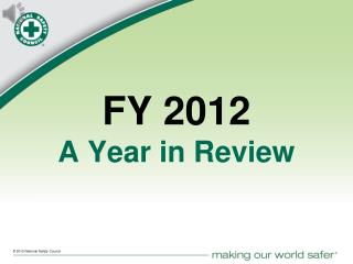 FY 2012 A Year in Review