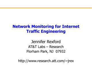 Network Monitoring for Internet Traffic Engineering