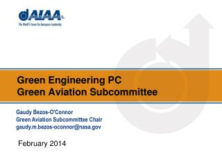 Green Engineering  PC  Green Aviation Subcommittee