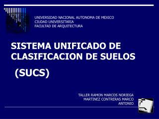 UNIVERSIDAD NACIONAL AUTONOMA DE MEXICO  CIUDAD UNIVERSITARIA  FACULTAD DE ARQUITECTURA