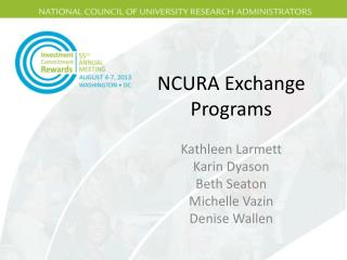 NCURA Exchange Programs