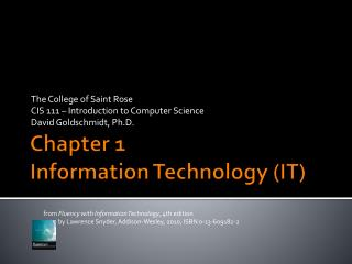 Chapter 1 Information Technology (IT)