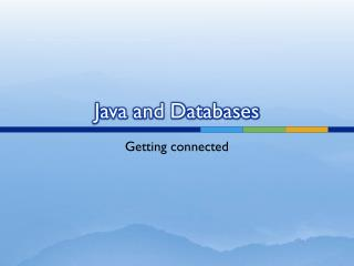Java and Databases