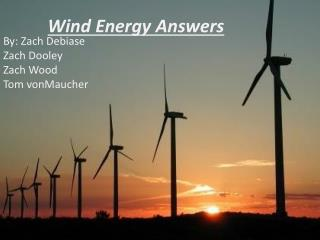 Wind Energy Answers