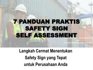 7  PANDUAN PRAKTIS SAFETY SIGN  SELF ASSESSMENT