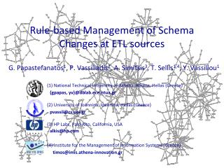 Rule-based Management of Schema Changes at ETL sources