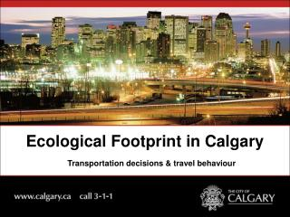 Ecological Footprint in Calgary