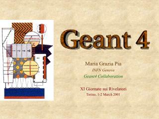 Maria Grazia Pia INFN Genova Geant4 Collaboration  X I  Giornate sui Rivelatori