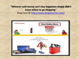 Enjoy Online Shopping in India with ShopCherries