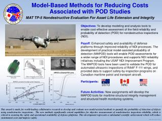 Model-Based Methods for Reducing Costs Associated with POD Studies