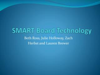SMART Board Technology