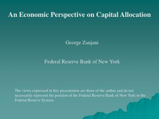 An Economic Perspective on Capital Allocation