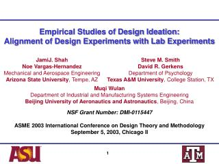 Empirical Studies of Design Ideation:  Alignment of Design Experiments with Lab Experiments