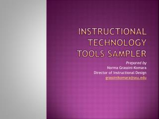 Instructional Technology Tools Sampler
