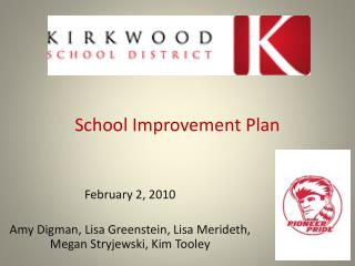School Improvement Plan