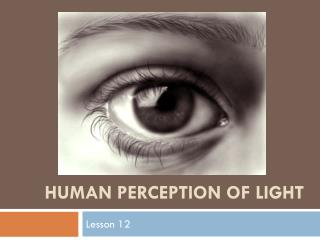 Human Perception of Light
