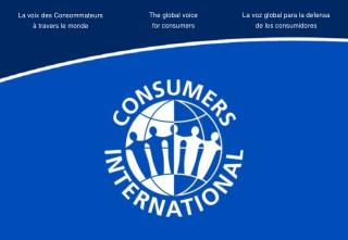 The global voice  for consumers