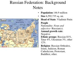 Russian Federation: Background Notes