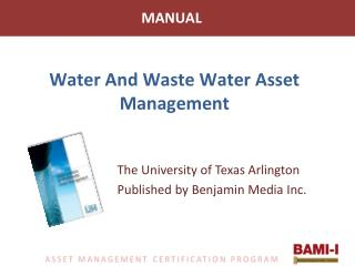Water And Waste Water Asset Management