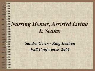 Nursing Homes, Assisted Living & Scams