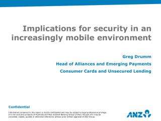 Implications for security in an increasingly mobile environment