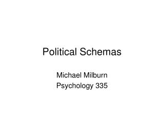 Political Schemas
