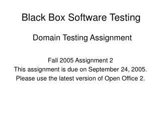 Black Box Software Testing  Domain Testing Assignment
