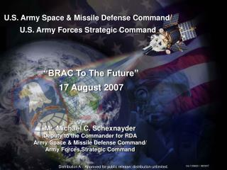 U.S. Army Space & Missile Defense Command/  U.S. Army Forces Strategic Command