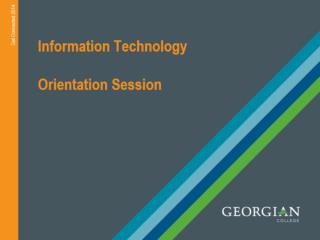 Information Technology Orientation Session