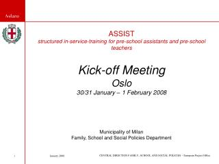 ASSIST  structured in-service-training for pre-school assistants and pre-school teachers