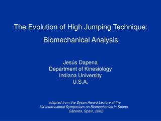 The Evolution of High Jumping Technique: Biomechanical Analysis