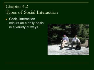 Chapter 4.2  Types of Social Interaction