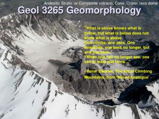 Geol 3265 Geomorphology