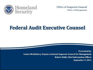 Federal Audit Executive Counsel