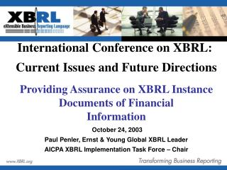 Providing Assurance on XBRL Instance Documents of Financial Information