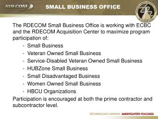SMALL BUSINESS OFFICE
