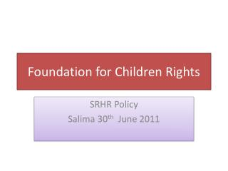 Foundation for Children Rights