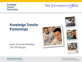 Knowledge Transfer Partnerships