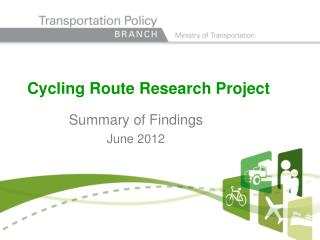 Cycling Route Research Project