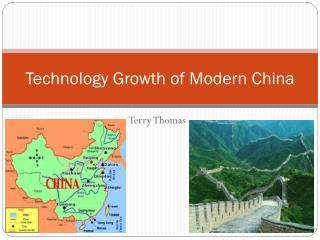 Technology Growth of Modern China