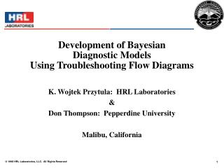 Development of Bayesian  Diagnostic Models  Using Troubleshooting Flow Diagrams