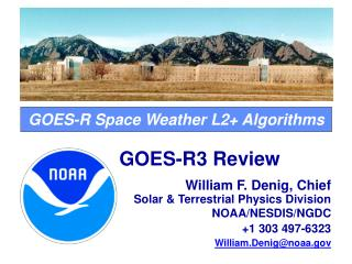 GOES-R Space Weather L2+ Algorithms