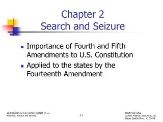 Chapter 2 Search and Seizure