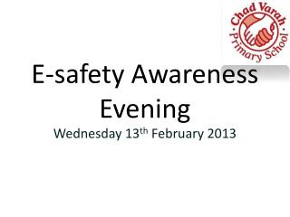 E-safety Awareness Evening