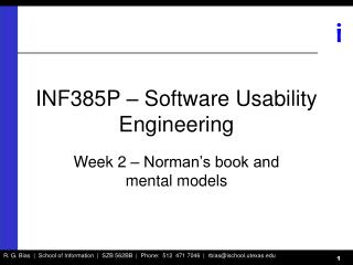 INF385P – Software Usability Engineering