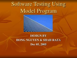 Software Testing Using Model Program
