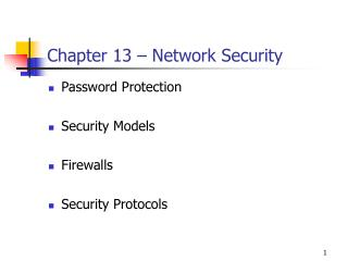 Chapter 13 – Network Security