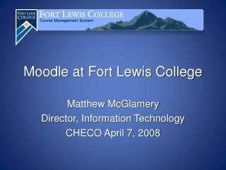 Moodle at Fort Lewis College